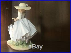 Lladro Puppy Parade Girl with Dogs #6784 Mint with Box and Artist Signature
