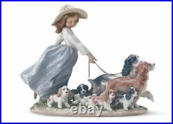 Lladro Puppy Parade Girl with Dogs Figurine 01006784