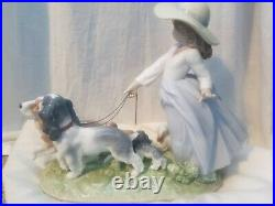 Lladro Puppy Parade Girl with Dogs Figurine 01006784 Great Condition