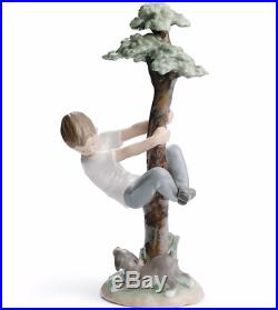 Lladro RETIRED 01008446 TREE OF ADVENTURES boy claiming dog new in box