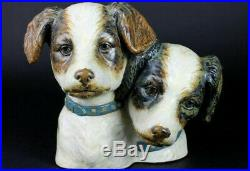 Lladro Rare Dog Bust Gres finish How adorable
