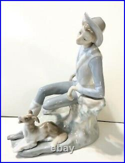 Lladro Retired 4659 Country Boy Shepard Dog Man Porcelain Sculpture Made Spain