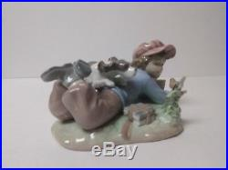 Lladro STUDY BUDDIES Figurine #5451, Boy with Dog, MIB