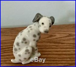 Lladro Sitting Dalmatian Dog Retired Porcelain Figurine #1260