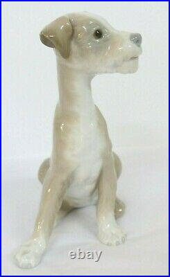 Lladro Sitting Dog Porcelain Figurine #4583