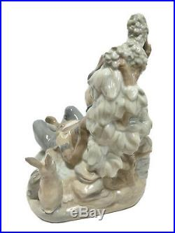 Lladro Sleeping Hunter Rabbits Dog Large Porcelain Figurine