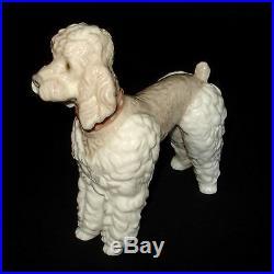 Lladro Standing Poodle Dog (wooly Dog) Glazed Porcelain Figurine #1259 Mint