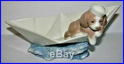Lladro Stowaway Dog #6862 Complete In Original Box