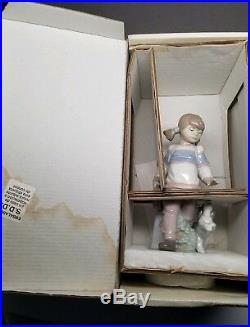 Lladro THURDAY'S CHILD #6018 FIGURINE School Girl & Dog with BOX Excellent