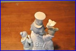 Lladro The Snowman Figurine #5713 with Box Children Dog Christmas Mint