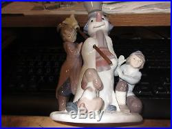 Lladro The Snowman Figurine with children and dog #5713 -perfect condition