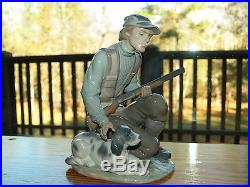 Lladro The Sportsman #6096 withDog & Gun RARE Retired Signed by Lladro