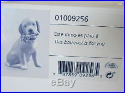 Lladro This Bouquet Is For You Brand Nib #9256 Dog With Flowers Golden Save$ F/s