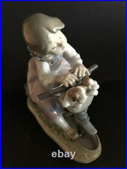 Lladro Travelling In Style. 5680. Girl with puppies