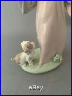 Lladro Under My Spell Girl with Wand and Dog Figurine No 6170. Boxed