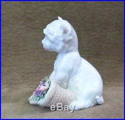 Lladro Utopia Figurine 01008207, Playful Character, Westie, Terrier, Dog