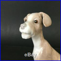 Lladro Very Old, Very Rare First Issue Terrier Dog with 1965-70 Mark, Flawless