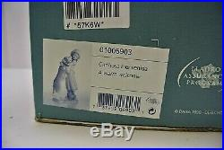 Lladro Warm Welcome Dog & Girl Porcelain Figurine # 6903