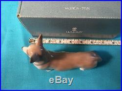 Lladro Welch Corgi dog statue figure 8339 Dasia 2007 Spain Orig $175 JM 18