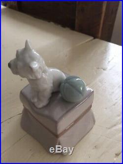 Lladro Westie My Favorite Companion Dog Figurine
