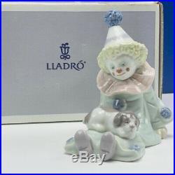 Lladro circus clown figurine carnival Spain Nao Daisa Box 5277 Pierrot dog vtg