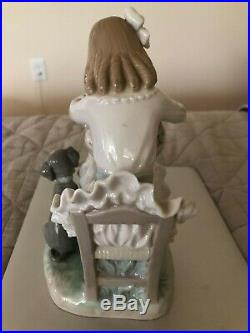 Lladro figurines retired, Country Flirt & Girl with Flowers & Dog