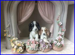 Lladro new in box Please come home Two beautiful dogs