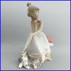 Lovely Lladro Fine Porcelain Figurine Chit Chat With Dalmatian Dog 5466