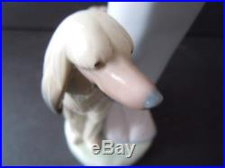 Lovely Lladro Stepping Out Figurine, #1537, Lady with Afghan Dog and Bonnet