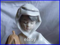 MIB 1994 Lladro Trick or Treat Boy in Ghost Costume Dog Halloween Pumpkin 06227