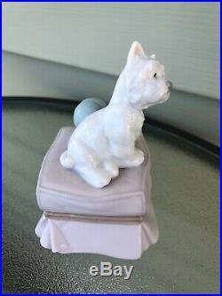MY FAVORITE COMPANION WESTIE PUPPY DOG BY LLADRO PORCELAIN #6985 Mint