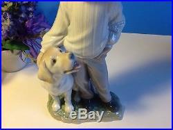My Loyal Friend Boy With Dog By Lladro #6902