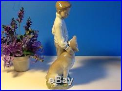 My Loyal Friend Boy With Dog By Lladro #6902