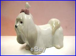 Maltese Puppy Dog Animal Figurine By Lladro #8368