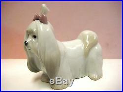 Maltese Puppy Dog Animal Figurine By Lladro Porcelain 8368