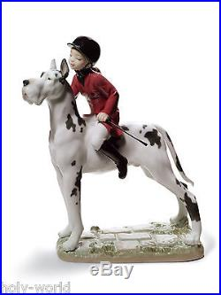 Marvelous Lladro Giddy Up Doggy New In Box. 8523 / 01008523