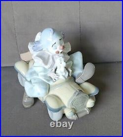 Mint LLADRO Clown TRIP TO THE CIRCUS Porcelain Figurine Car Dog
