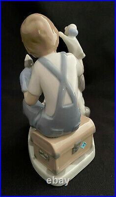 Mint! Lladro 5736 The Puppet Show Boy Dog Kitten Cat Figurine - Retired