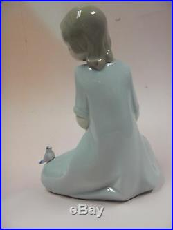 My Little Companions Girl & Puppy Dog Porcelain Figurine Nao By Lladro #1575
