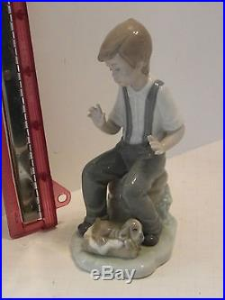 NOA by Lladro Boy with Sleeping Dog Collectible Figurine 407 Spain
