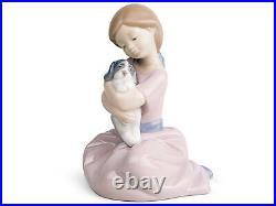 Nao By Lladro #1451 My Puppy Love Brand Nib Girl Holding Dog Cute Bargain F/sh