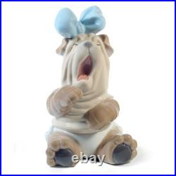 Nao By Lladro Rise & Shine #1729 Brand New In Box Dog Yawning Cute Porcelain F/s