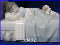 New Lladro #6541 Bedtime Buddies Brand Nib Boy Dog Retired $145 Off Free Shiping