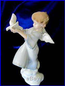 New Lladro #8533 Peace On Earth Brand Nib Angel With Dove Religion Save$ Free Sh