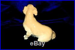 New Lladro Golden Retriever #8345 Brand New In Box Dog Yellow Nice Save$$ F/sh