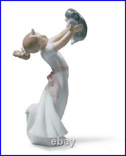 New Lladro The Best Of Friends Girl Figurine #8032 Brand Nib Puppy Save$$ F/sh