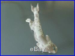 Nice Vintage 12 Lladro DOG Figurine 1068 GREAT DANE Retired Gray Spotted rare