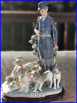PACK OF HUNTING DOGS Lladro #5342 Limited Edition, Original Box, COA, Very Rare
