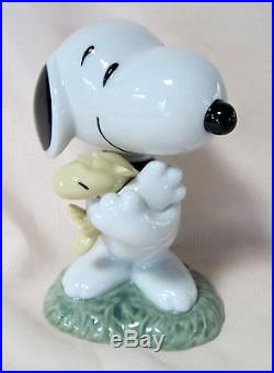 PEANUTS NAO BY LLADRO SNOOPY With WOODSTOCK BRAND NIB #531 CHARLIE BROWN DOG F/SH