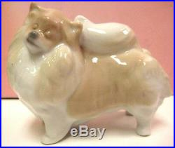 Pomeranian Puppy Dog Porcelain By Lladro 8338